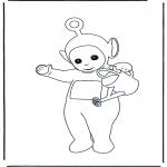 Kinderkleurplaten - Po met gieter