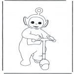 Kinderkleurplaten - Po op step