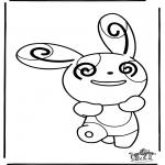 Stripfiguren Kleurplaten - Pokemon 13