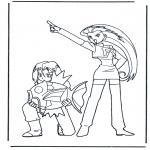 Stripfiguren Kleurplaten - Pokemon 3