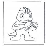 Stripfiguren Kleurplaten - Pokemon 5
