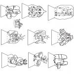 Stripfiguren Kleurplaten - Pokemon kijkdoos