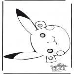 Knutselen Prikkaarten - Pokemon masker