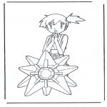 Stripfiguren Kleurplaten - Pokemon Misty
