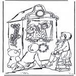 Kinderkleurplaten - Poppenkast