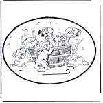 Knutselen Prikkaarten - Prikkaart 101 Dalmatiers 1