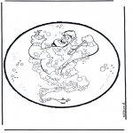 Knutselen Prikkaarten - Prikkaart Aladdin 1