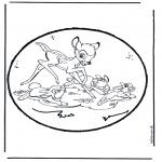 Knutselen Prikkaarten - Prikkaart Bambi 1