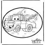 Knutselen Prikkaarten - Prikkaart Cars