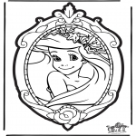 Knutselen prikkaarten - Prikkaart Disney Prinses 1