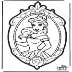 Knutselen Prikkaarten - Prikkaart Disney Prinses 2
