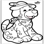 Knutselen Prikkaarten - Prikkaart hond 1