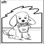 Knutselen Prikkaarten - Prikkaart hond 2