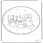 Kerst Kleurplaten - Prikkaart Kerst 1