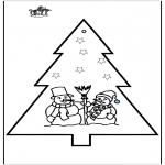 Kerst Kleurplaten - Prikkaart kerst 2