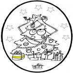 Kerst Kleurplaten - Prikkaart Kerstboom 3