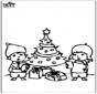 Prikkaart kerstboom 4