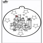 Kerst Kleurplaten - Prikkaart kerstkado's 1
