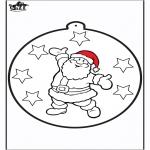 Kerst Kleurplaten - Prikkaart kerstman
