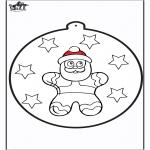Kerst Kleurplaten - Prikkaart kerstpop 2