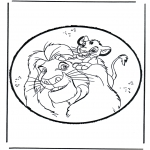 Knutselen prikkaarten - Prikkaart Lion king