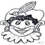 Knutselen Prikkaarten - Prikkaart masker 10