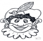 Prikkaart masker 10