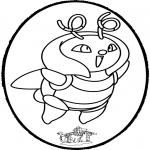 Knutselen prikkaarten - Prikkaart Pokemon 1