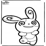 Knutselen prikkaarten - Prikkaart Pokemon 5