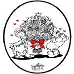 Knutselen prikkaarten - Prikkaart Valentijn