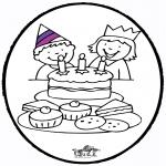 Knutselen Prikkaarten - Prikkaart verjaardag