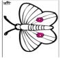 Prikkaart vlinder