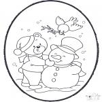 Knutselen Prikkaarten - Prikkaart winter 2