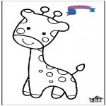 Kleurplaten Dieren - Primalac giraffe
