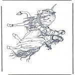Allerlei Kleurplaten - Prins op eenhoorn