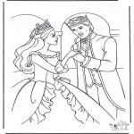 Allerlei Kleurplaten - Prinses danst
