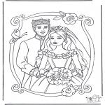 Allerlei Kleurplaten - Prinses en prins 3