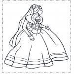 Allerlei Kleurplaten - Prinses in jurk