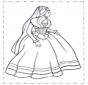 Prinses in jurk