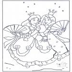 Allerlei Kleurplaten - Prinsesjes 1