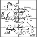 Knutselen - Puzzel Babar
