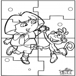Knutselen - Puzzel Dora