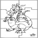 Knutselen - Puzzel draak