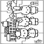 Knutselen - Puzzel Hello Kitty