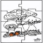 Knutselen - Puzzel herfst