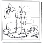 Knutselen - Puzzel kaarsen