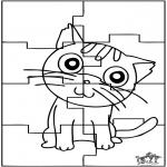 Knutselen - Puzzel kat