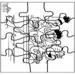 Knutselen - Puzzel sesamstraat