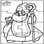 Knutselen Prikkaarten - Puzzel Sint 1