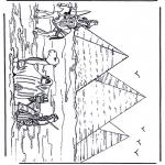Allerlei Kleurplaten - Pyramides in Egypte